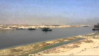 Video exclusive first day of Ramadan in the new Suez Canal and the first crossing