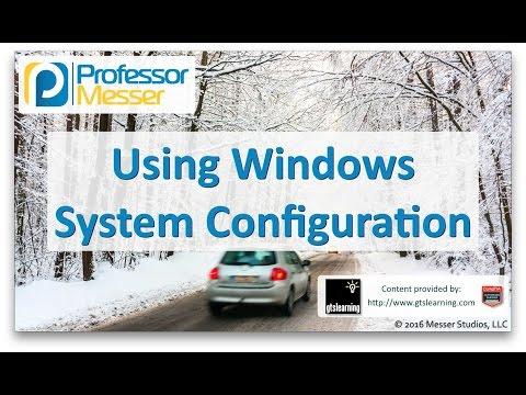 Using Windows System Configuration