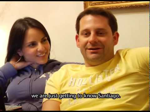 """Henrique and Fernanda, from Brazil:  """"We ate seafood and Santiago is a beautiful city"""""""