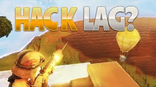 HACK OR LAG? (Fortnite Battle Royale) | rhinoCRUNCH