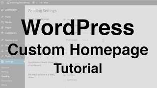 WordPress Custom Homepage Tutorial thumbnail