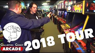 Galloping Ghost Arcade Tour 2018 with owner Doc Mack