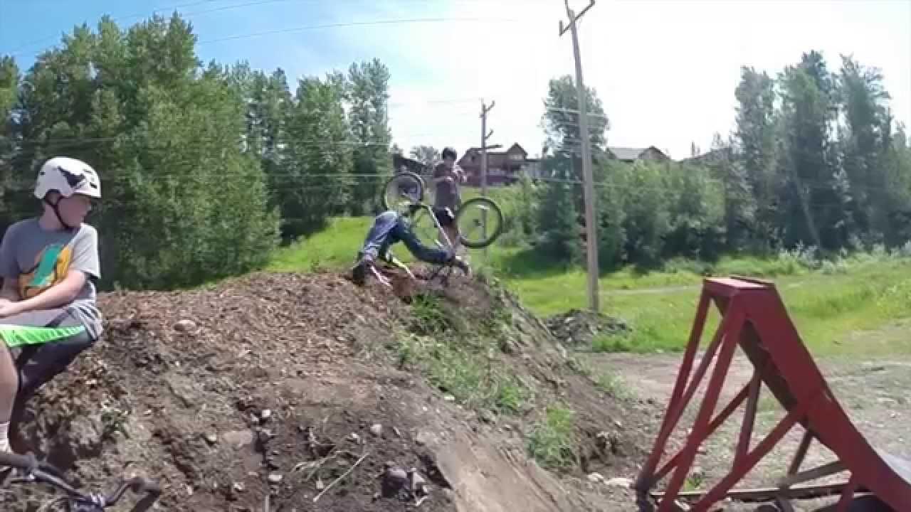 Fernie Bc Bike Jumping July 15 2014 Youtube