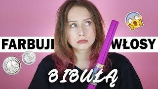 Farbuję włosy BIBUŁĄ // Farbowanie ZA GROSZE