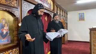 HG Bishop Youssef: Divine Liturgy w/HG Bishop Basil @ St Mary & St Moses Abbey, TX ~ 04/03/2020