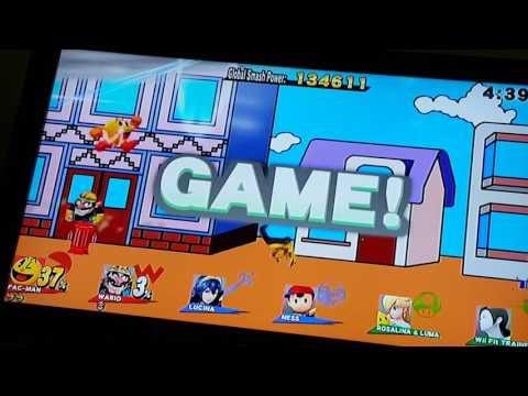 Pacman Play Smash Bros Wiiu Classic Mode 1/2