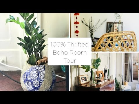 Boho Room Tour: 100% Thrifted, Second Hand Decor and Furniture