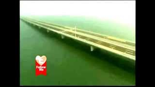 الان افتتاح اكبر و اطول جسر بحري *مائي* في العالم بالصين cn شاهد بالصور......
