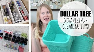 Dollar Tree Haul! | Organizing & Cleaning Tips