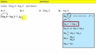 Zadanie 1. Matura 2018 z matematyki. Odejmowanie logarytmów | MatFiz24.pl