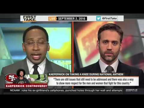ESPN FIRST TAKE TV - Colin Kaepernick $1M Donation After Kneels Anthem