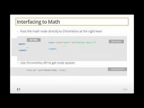 Google I/O 2013 - Advancing Web Accessibility with ChromeVox