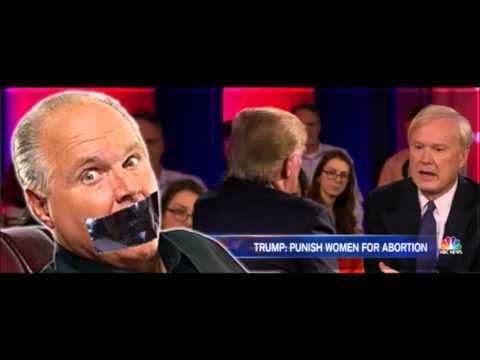 Limbaugh on the Trump/Chris Matthews abortion-question-trap mess