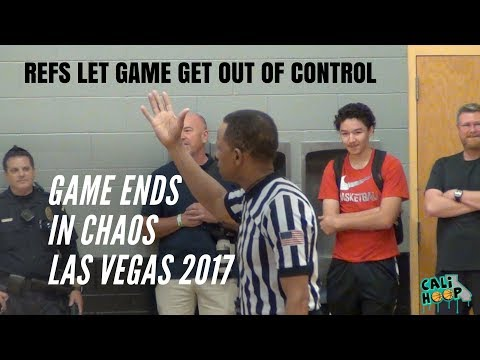 Refs let Vegas AAU Game get out of control!!! Ends in Chaos (Livermore vs Long Beach)