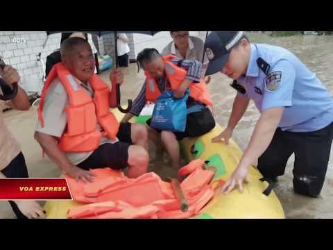 Trung Quốc: Lũ lụt, hàng chục ngàn người sơ tán (VOA)