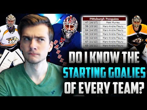 Can I Name the Goalies that Played the Most Games of Each Team the Last Seven Seasons?