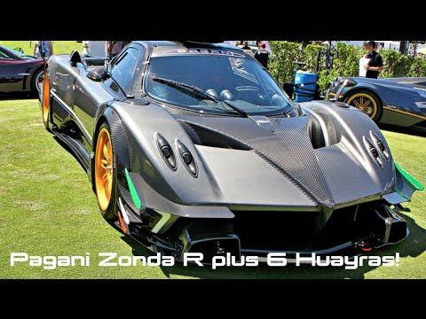 Pagani Zonda R And 6 Huayras Carbon Iber Engine Bay Interior And