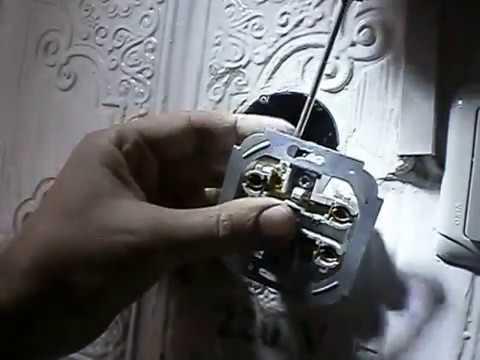 Ремонт розетки, монтаж установочной коробки
