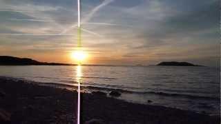 Zonsondergang bij camping Port l' Epine, Trelevern, Bretagne