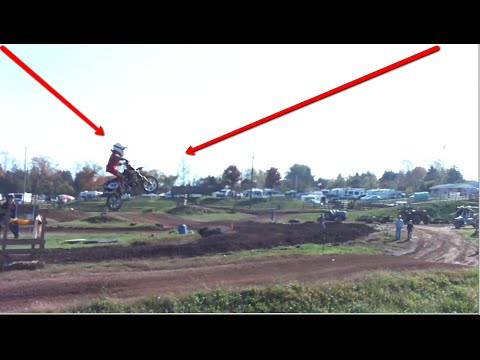 Mini Dirt Bike Racers Catching Monster Air (7 year old kid clears table top)