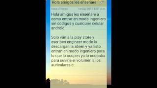 entrar en modo ingeniero sin codigo para cualquier celular android