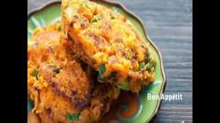 Paleo Recipes - Sweet Potato Bacon Cakes