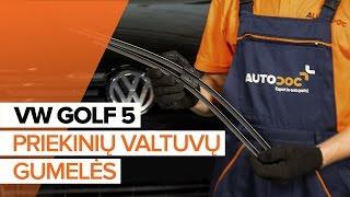 Kaip pakeisti Stiklo valytuvai VW GOLF V (1K1) - internetinis nemokamas vaizdo
