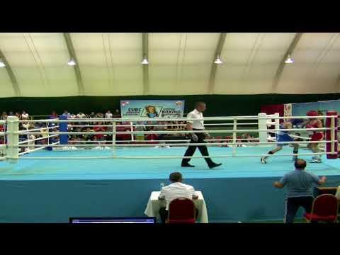 2018 -24-05  საბა ტყებუჩავას პირველი ორთაბრძოლა კრივში ევროპირველობაზე - ბულგარეთის ქ.ალბენაში.