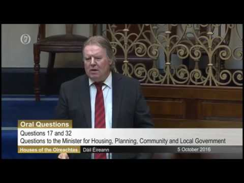 Tommy Broughan TD questioning the Minister for Housing, Simon Coveney on HAP