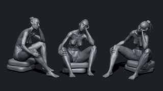 zbrush sculpting from live modele #11