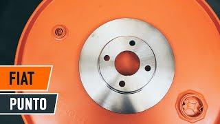 Kaip pakeisti priekiniai stabdžių diskai ir stabdžių kaladėlės FIAT PUNTO 188 PAMOKA | AUTODOC