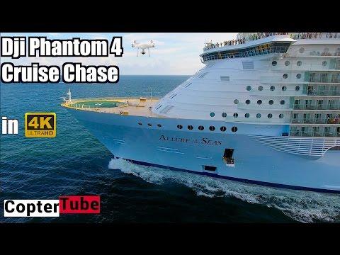 Dji phantom 4 4K lonnng range live cruise ship chase 🛳 🚁 LIVE BROADCAST 10-2-16