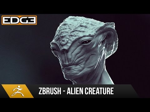Zbrush Character Sculpting Tutorial - Alien Creature Design HD