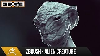 zbrush character sculpting tutorial alien creature design hd