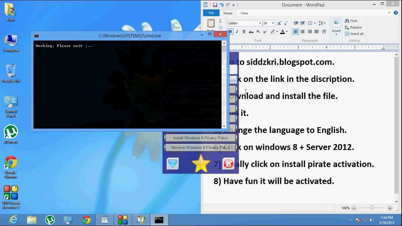 Activator Windows 8 Help to find a working activator for Windows 8 Pro 64x Build 9200. Thank you in advance
