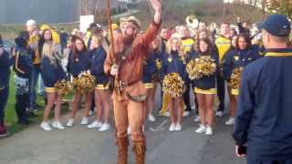 Mountaineer Mantrip and Pregame activities for Texas