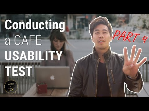 UX Researcher Conducts a Cafe Usability Test | [FOLLOW ALONG] PART 4 | FREE SCRIPT | Zero to UX
