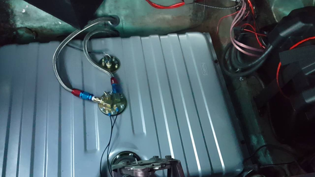 1969 Mustang Tanks Inc efi fuel system with FiTech EFI