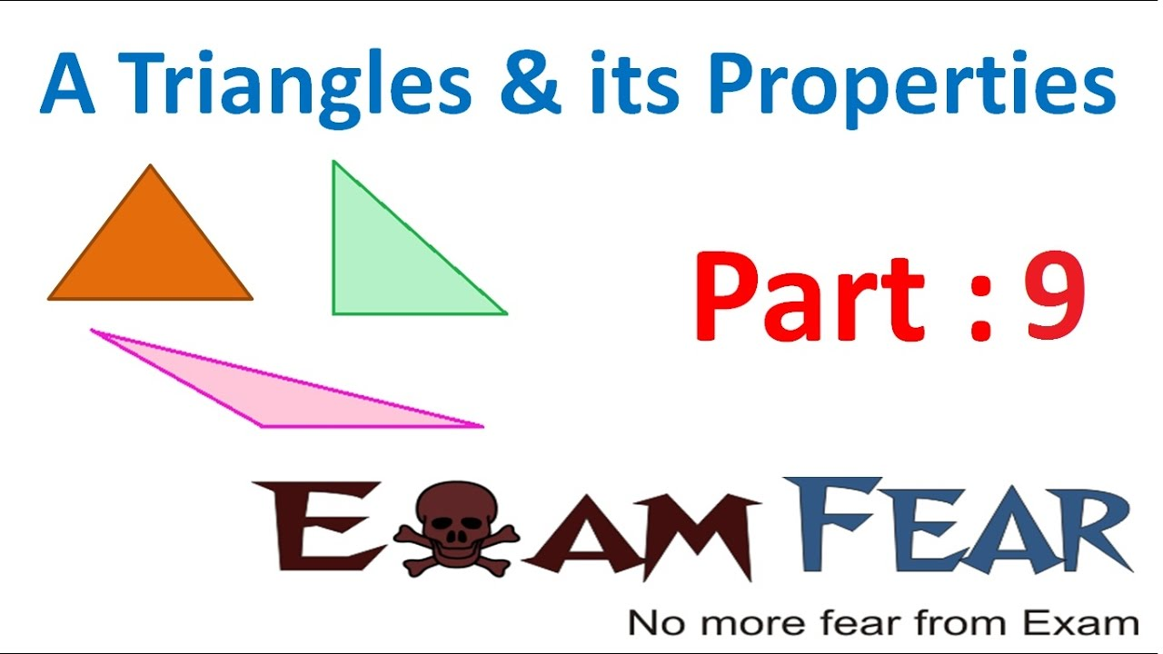 Maths Triangle And Its Properties Part 9 (Exterior Angle Property) CBSE  Class 7 Mathematics VII