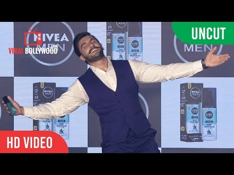 UNCUT - Funniest Brand Launch By Ranveer Singh | NIVEA MEN'S Grooming Brand Nivea Men thumbnail