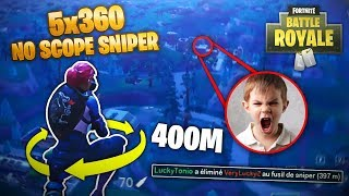 ►5x360 NO SCOPE SNIPER *REAL O FAKE* EN FORTNITE // 400M / Fortnite EPIC & FAILS Moments