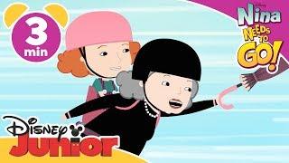 Nina Needs To Go | To Preschool | Disney Junior UK