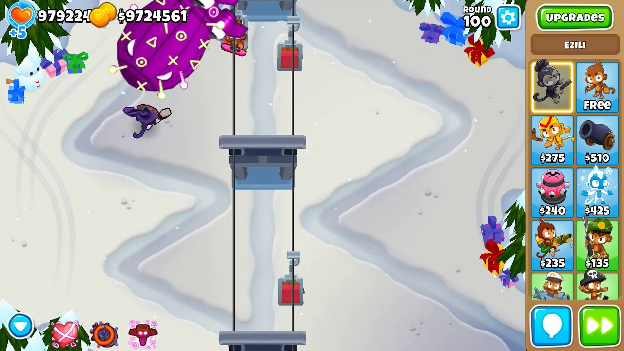 (BTD6 New Hero) Ezili can solo the round 100 BAD