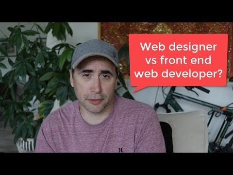 Web Designer vs Front End Web Developer