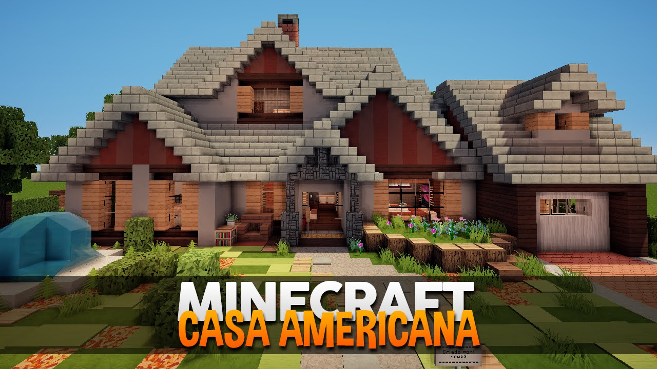Minecraft casa americana suburbana by sewk0 youtube - Planos de casas americanas ...