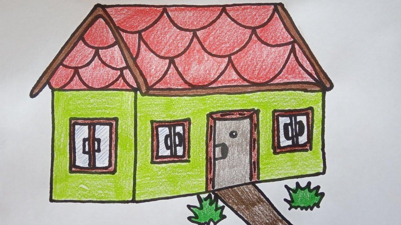 Конспект с фотографиями на тему нарисовать домик