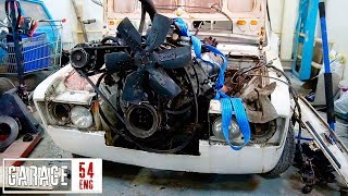 Swapping a 7-liter truck engine into a Lada – first start
