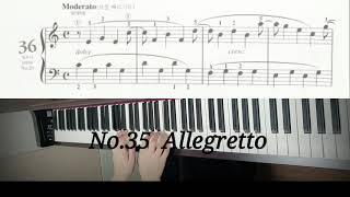 체르니 100번 no.36 Moderato