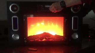 Technical Pro Fire5000 Electric Fireplace Bluetooth Entertainment Center