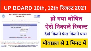 Up board Result 2021 Live 10th & 12th result Kaise Dekhen Roll Number Kaise Search kare
